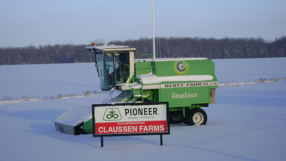 Claussen Farms Pioneer Product Sales