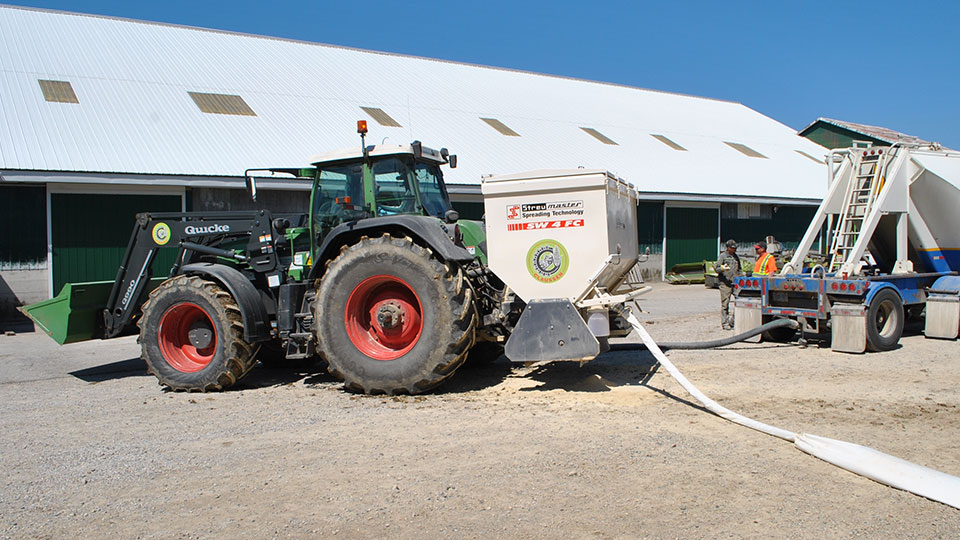 Claussen Farms Lime Spreading